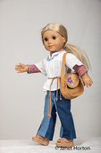 American Girl doll dressed in casual clothes going for a walk