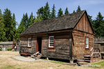 Laborers' Dwelling house log cabin at Fort Nisqually Living History Museum