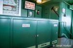 Cabinet for storing life preservers on the Black Ball Ferry called Coho Seattle
