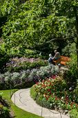 Formal flower gardens at Butchart Gardens