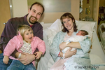 Family with newborn son and 2.5 year old daughter in the hospital in Kent, Washington, USA