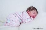 Twelve day old baby girl sleeping