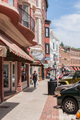 People shopping on Main Street, Galena, Illinois, USA