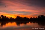 Colorful sunrise on the Cuiaba river