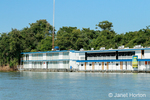Floating Hotel, or Flotel, on the Cuiaba River