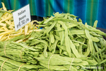 Yellow and green Italian beans for sale at a Farmers Market