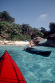 Thailand, kayaking Similan Islands to a perfect beach, Similan Islands National Park, Andaman Sea, Indian Ocean