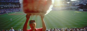 Cotton candy, baseball game, panoramic