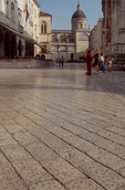 Dubrovnik, Croatia, The centuries of Croatian feet have polished Dubrovnik's central promenade marble paving stones to a remarkable sheen - a World Heritage city on the Adriatic,