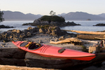 Sea Kayak, Mariner II, Seattle- designed sea kayak by Mariner Kayaks, Matt and Cam Broze, photographed at the Broken Islands, Clarke Island, Pacific Rim National Park, Barkley Sound, Vancouver Island, British Columbia, Canada,