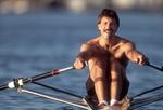 Rowing, Male rower in single racing shell, Seattle, Washington, John Holtman, Lake Washington Rowing Club,