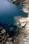 Crete, Greece, Kayaking Crete's rocky southwest coast, Europe, Mediterranean Sea, Sarah Shannon, released,