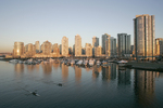 Vancouver, Rowers, False Creek, British Columbia, Canada, Expo 86 site now is a carefully crafted highrise apartment and condo neighborhood bordering False Creek
