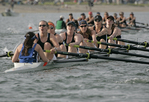 Rowing, Lake Washington Rowing Club women's A eight, San Diego Crew Classic, Mission Bay, San Diego, California, U.S.A., model released,