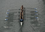 Seattle, Rowing, Windermere Cup Regatta, mixed eight oared racing shell from above, 