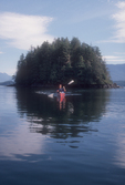 Canada, Johnstone Strait, Woman sea kayaker, Vancouver Island, British Columbia, Inside Passage, released,