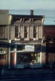 Seattle, Belltown, Pioneer buildings (since demolished), First Avenue at Battery Street, store: Lamp & Electric Shop, Elliott Bay, Puget Sound, Washington State, Pacific Northwest, USA, Image taken in 1978
