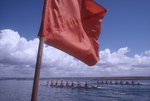 Rowing, San Diego Crew Classic Regatta, Mission Bay, San Diego, California, 500 meter marker,