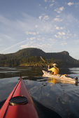 Sea Kayakers, San Juan Islands, Cypress Island, Rosario Strait, Puget Sound, Washington State, Pacific Northwest, USA