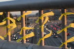 Iraq military war dead honored with yellow ribbons over Interstate 5, Seattle, Washington State,