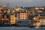Istanbul, Turkey, Galata district,  Karakoy ferry dock, Golden Horn, Bosphorus, Turkish urban architecture,