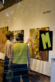Seattle, First Thursday art walk, art gallery opening, Marni Muir Gallery, Pioneer Square, Historical District, Washington State; Pacific Northwest; USA;