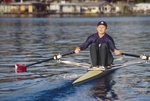 Carol Skricki, Rowing Workout, single sculls, Seattle, National Team rower, Rowed with Laurel Korholz, in the US Women's double sculls, Cologne, Germany, 1998 FISA World Rowing Championships,