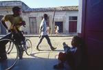 Havana, Cuba, Reparto Vedado, one of the poorest neighborhoods in the city, idle boys, street scene, Gulf of Mexico, Caribbean Sea, Central America,