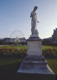 Paris, France, Jardin des Carrousel , statue, carousel, entrance to the Louvre Museum, Right Bank, First Arrondissement, Also considered the Jardin des Tuileries,  