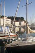 Slovenia, Piran, Boat harbor, architecture, Istrian coast, Adriatic Sea, Europe,  European Union,