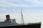 Long Beach, California, The Queen Mary, historic ocean liner, Southern California, United States,
