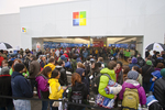 Seattle, Microsoft, grand opening of Microsoft's first retail store, October 20, 2011, Seattle's University Village shopping center, Washington State, United States, Microsoft's