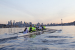 Rowing, Pocock Rowing Foundation, Junior Men's eight, workout, Seattle, Washington State, winter, 2012, Coxswain: Emily Navin; Stroke: Harrison Shure (also rowed 6 six,); 7: Will Van Cleve; 6: Nick Firmani (he also stroked); 5: Sam Pettet; 4: Daniel Rowbotham; 3: Dan Marconi; 2: Grant Van Kampen; Bow: Sam Kurpis.