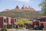 U.S.A., Southwest desert, America, Arizona, Sedona, town, tourists, red rock,