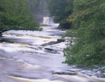 MICHIGAN - Waterfall on the Presque Isle River in Porcupine Mountains Wilderness State Park