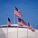 WASHINGTON - Flags on the Tacoma Dome in downtown Tacoma