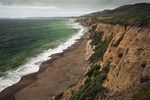CALIFORNIA - Sandstone cliffs along the shores of Drakes Bay from the Coast Trail in Point Reyes National Seashore.