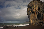 CALIFORNIA - Massive eroded headland on Goat Rock Beach on the Sanoma Coast.