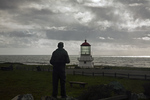 CALIFORNIA - The former Mendocino Point Light which is currently located at Point Delgada on the Pacific Coast at Mel Coombs Park in Shelter Bay.