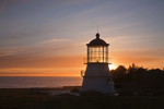 CALIFORNIA - The former Mendocino Point Light now on Point Delgada in Mel Coombs Park in Shelter Bay.