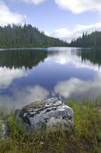 BRITISH COLUMBIA - Kwia Lake in the Forbidden Plateau - Paradise Meadows area of Strathcona Provincial Park.