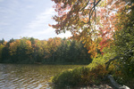 MICHIGAN - Autumn color in the forest surrounding Mirror Lake in Porcupine Mountains Wilderness State Park.