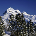 BRITISH COLUMBIA - Diamond Head in the winter from Elfin Lakes in Garibaldi Provincial Park.