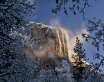 CALIFORNIA - Snowy El Capitan in the early morning; Yosemite National Park.