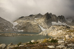 WASHINGTON - A stormy day at Isolation Lake in the Upper Enchantment Lakes Basin of the Alpine Lakes Wilderness area in the Wenatchee National Forest.