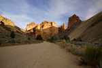 OREGON - Road through the winding Leslie Gulch.