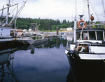 BRITISH COLUMBIA - Fishing boats and the U'mista Cultural Center at Alert Bay on Cormorant Island.