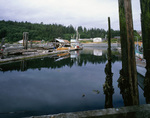 BRITISH COLUMBIA - Fishing boat dock and the U'mista Cultural Center at Alert Bay on Cormorant Island.