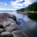 BRITISH COLUMBIA - Mermaid Cove at Saltery Bay Provincial Park on the Sunshine Coast.
