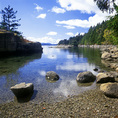 BRITISH COLUMBIA - Mermaid Cove at Saltery Provincial Park on the Sunshine Coast.